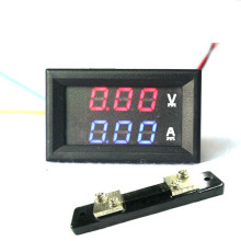 "0.28"" DC 0-100V/50A Red Blue Digital Voltmeter Ammeter 2 in 1 DC Volt Amp Meter With 50A/75mV Ampere Shunt"
