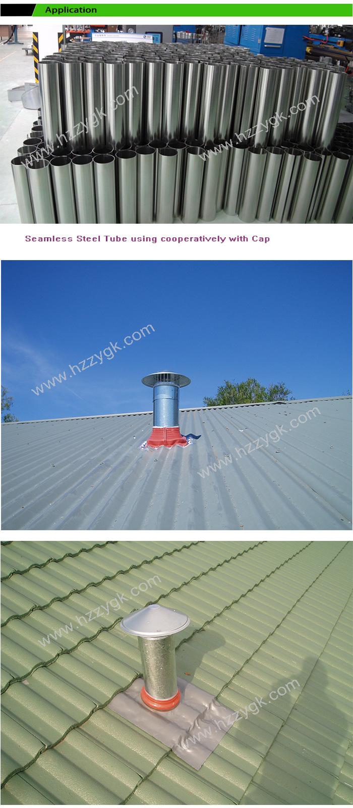 Waterproof Vent Pipe Cap Galvanized Steel Cowl Vents Roof