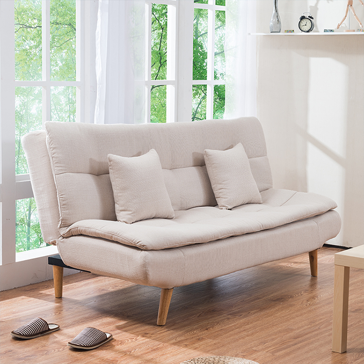 Fabric small apartment functional sofa folding bed sofa