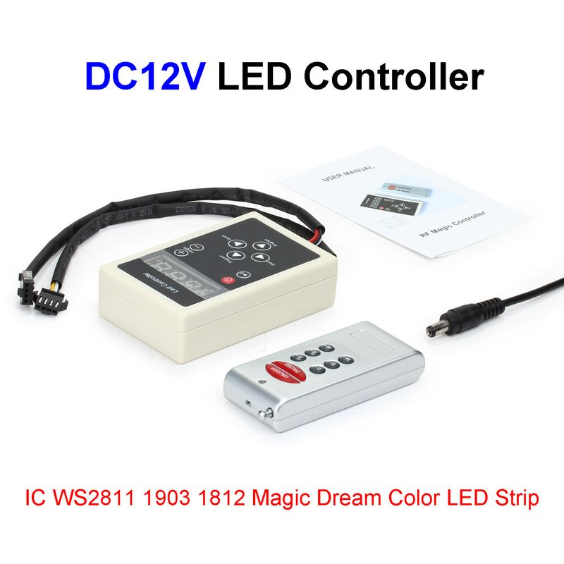DC12V IC WS2811 1903 1812 LED Controller RF Wireless Remote Control For 5050 Magic Dream Color RGB LED Strip