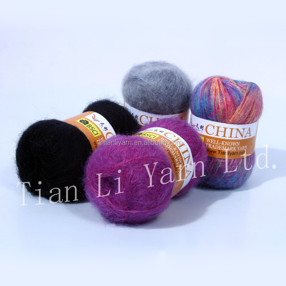 Acrylic and Mohair Yarn Fancy Yarn cheap yarn