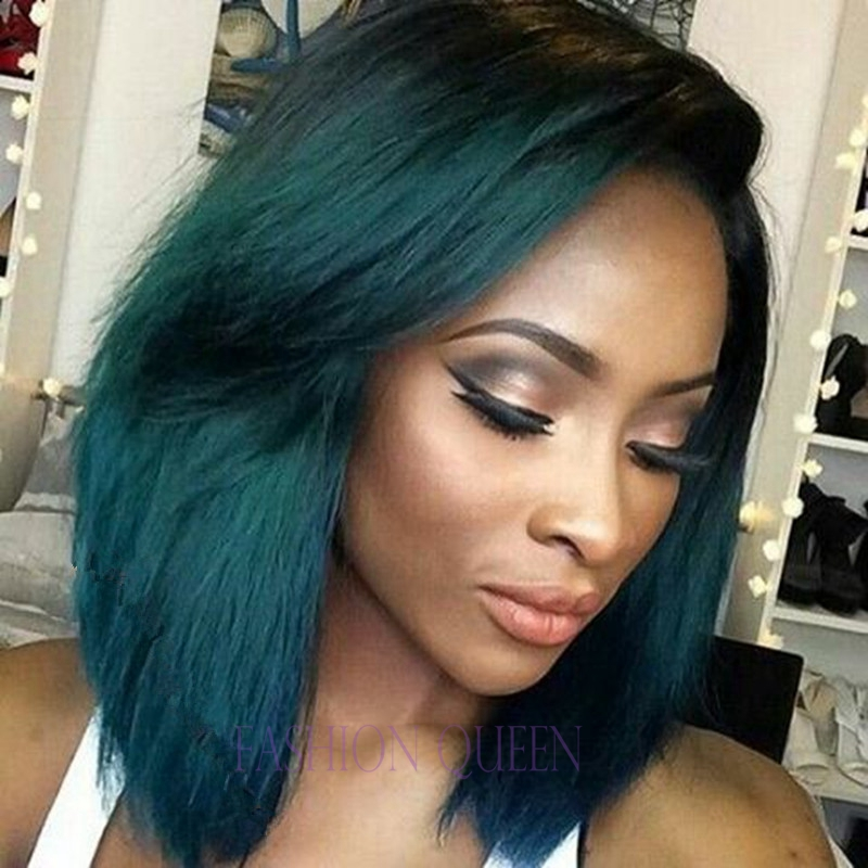 Aliexpress.com : Buy Short Bob Hair Ombre Turquoise Green
