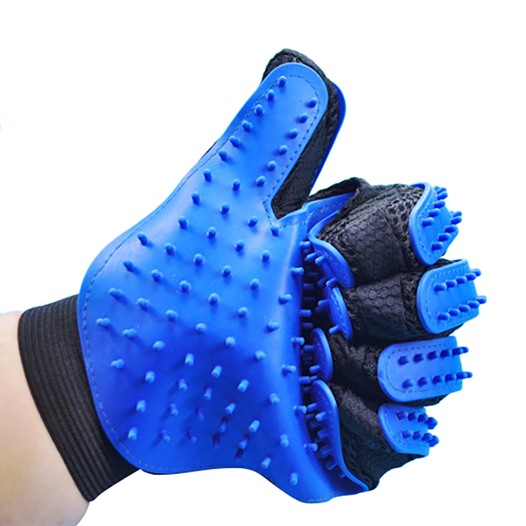 Upgraded Double side pet grooming glove pet hair remover glove dog deshedding grooming glove brush