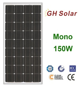 Poly Crystalline Solar Panel 150W 18V GH SOLAR Ready for Delivery Free Shipping