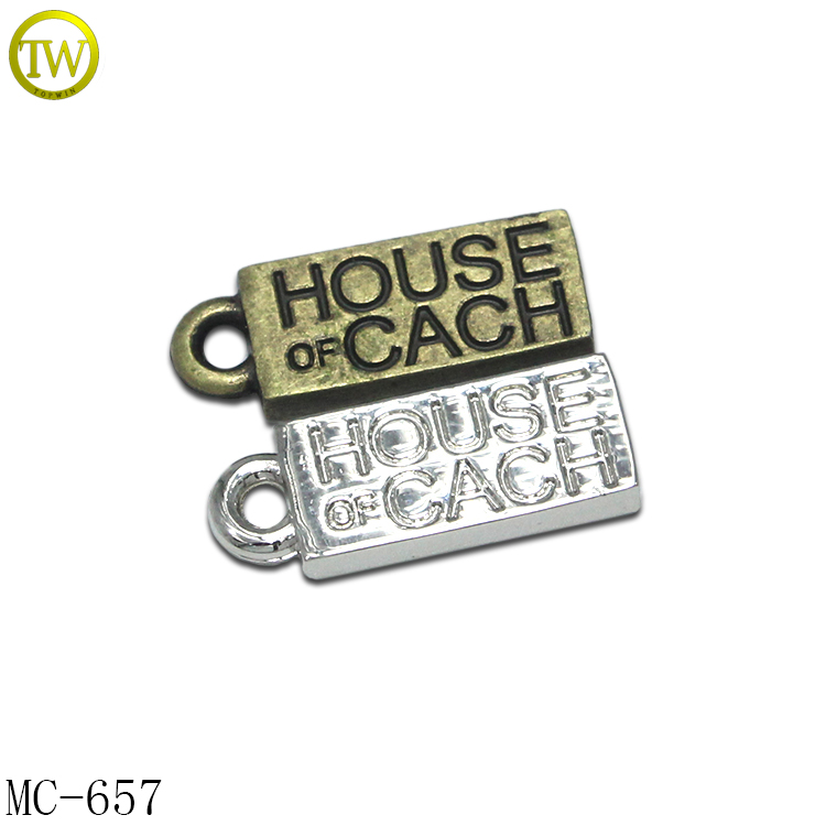 Small bracelet accessory logo branded metal custom charms