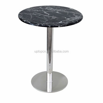 Marble Round Restaurant Cafe Bistro Table Sprt Buy - Round marble cafe table
