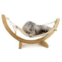 Hot Pet travel swing bed hammock Wood Handmade Cat Bed Cat Hammock