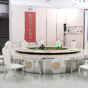 Modern Big round rotating dining table for hotel restaurant