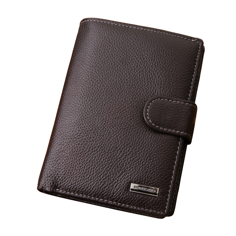 2015 genuine leather men wallets with coin pocket,passcard pocket and big ID card holder famous brand big capacity men wallets
