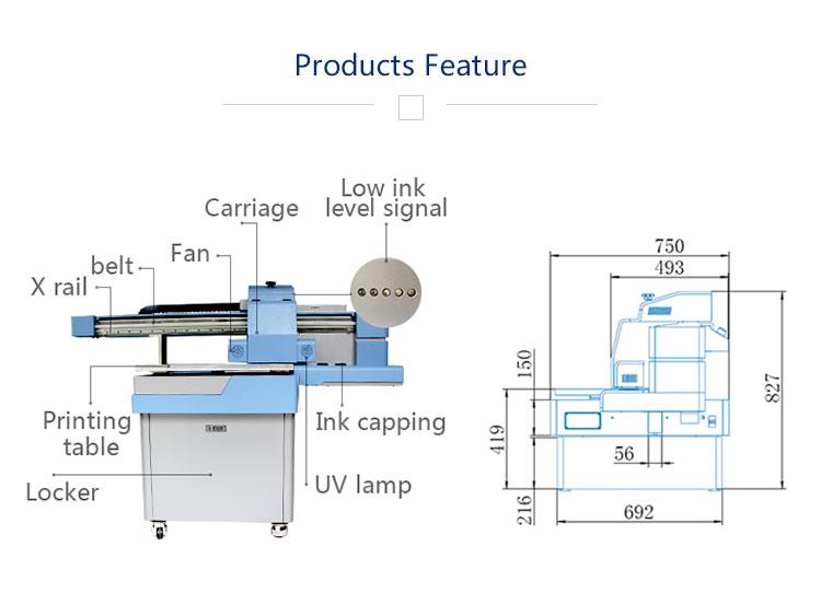 A2 multifunctionele telefoon geval flatbed uv inkjet printer mobiele case cover printing machine