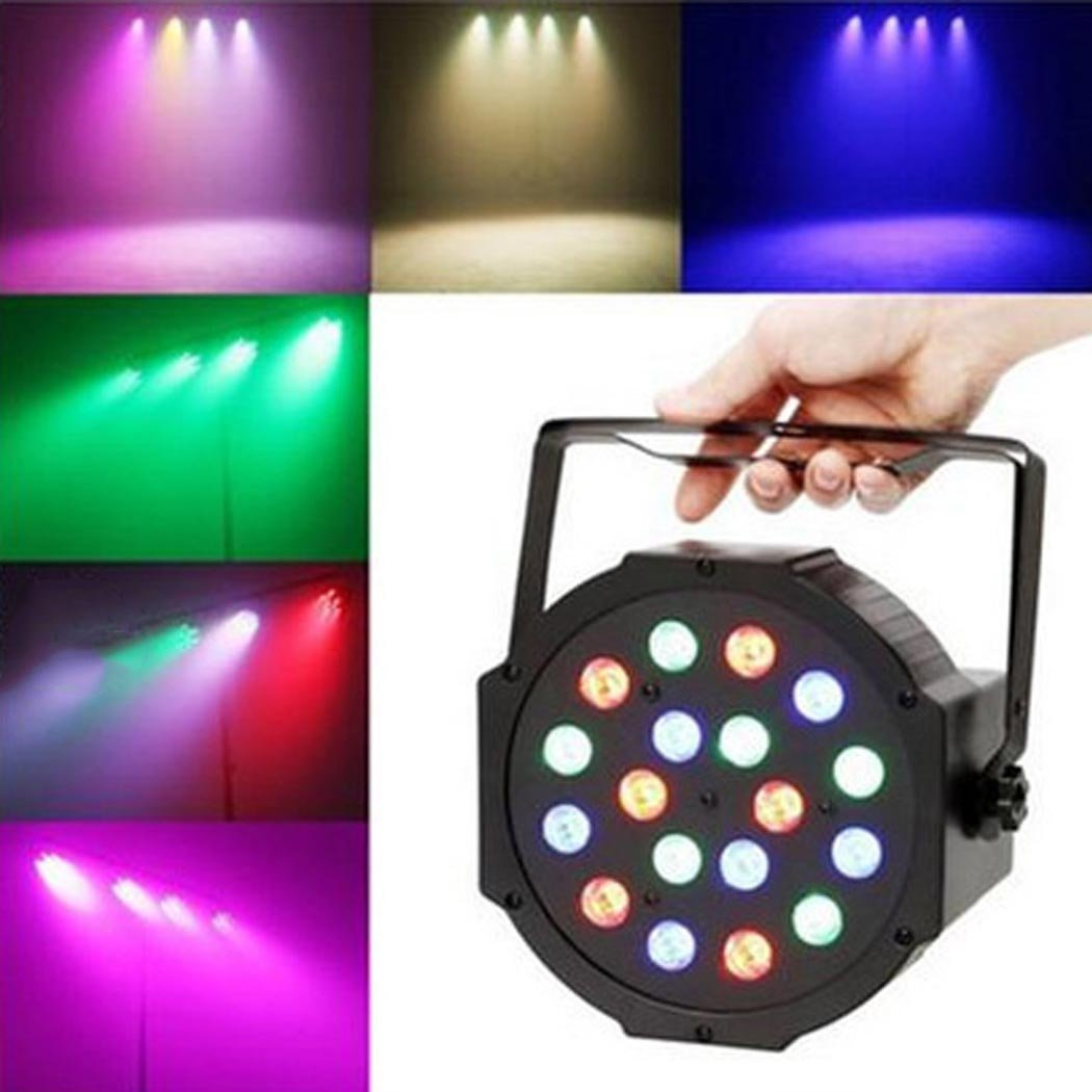 Par Lights, Outgeek Led Stage Dj Lights Stage Lighting Uplighting RGB Dmx512 Party Lights for Disco Wedding Wash Dj Blacklight