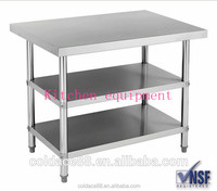 Three layers stainless steel kitchen tables