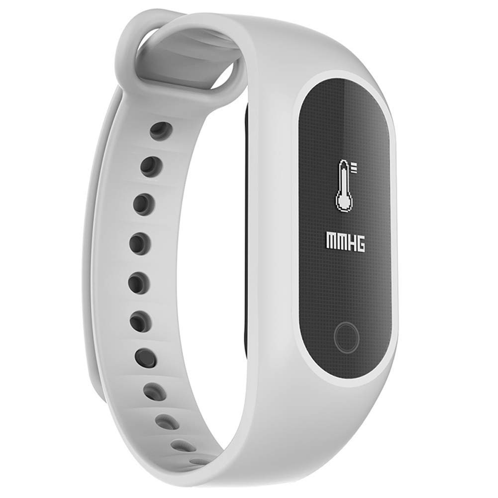 Smart Bracelet, IP67 Waterproof Bluetooth Fitness Tracker, Heart Rate Blood Oxygen Blood Pressure Monitor, Sleep Monitoring Call SMS Social Reminder Watch, Color Screen ,For Android And Ios,White