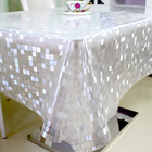 Factory Wholesale Table Cover Clear Soft Pvc Thick Clear Plastic Table Cloth