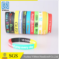 customized embossing rubber silicone bracelet / silicone band