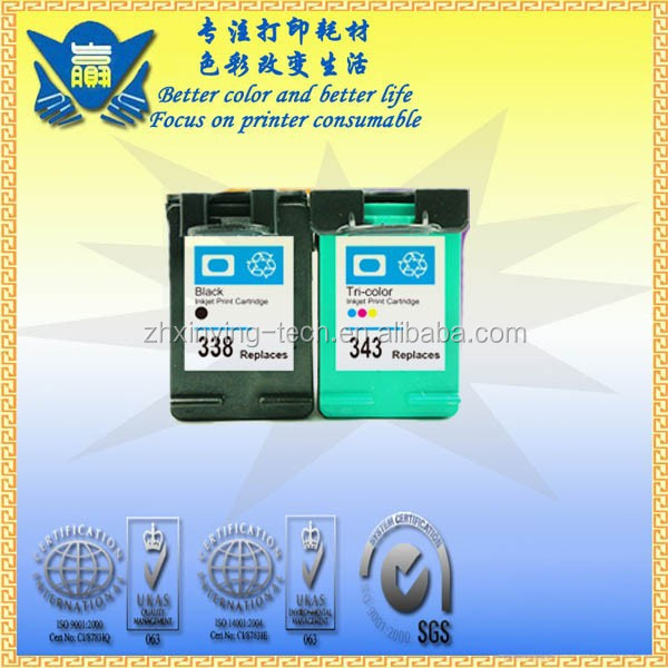 Remanufactured Ink Cartridge for HP 338 343 ,use in Deskjet 460c 5740 5745 6520 6540 6620 6840 9800