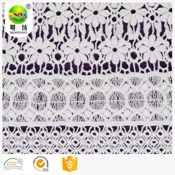 Shaoxing keqiao mode populaire 100 coton fantaisie broderie chimique dentelle tissu