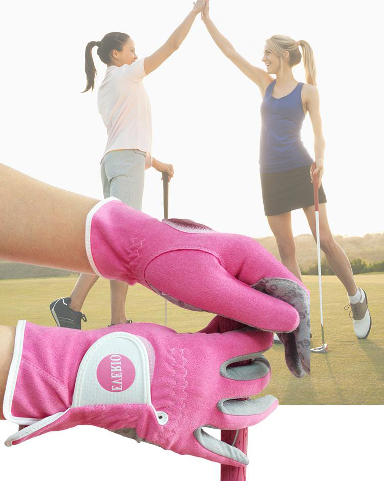 Promotion High Quality Colored Lady Golf Gloves