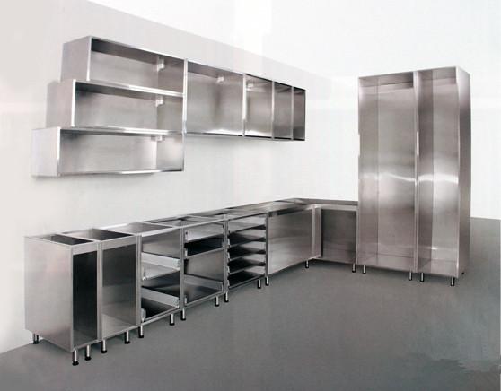 gabinete de metal de acero inoxidable muebles de cocina