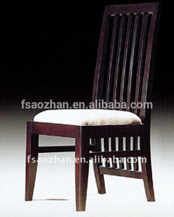 Aozhan marco de madera silla de comedor para el hotel, la silla se ...
