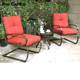 Easy cleaning smooth and soft garden aluminum furniture set