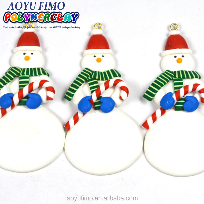 Snowman clay dough hang ornament for Xmas tree decoration China supplier wholesale