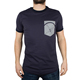 Mens navy pocket print t shirts manufacturing equipment
