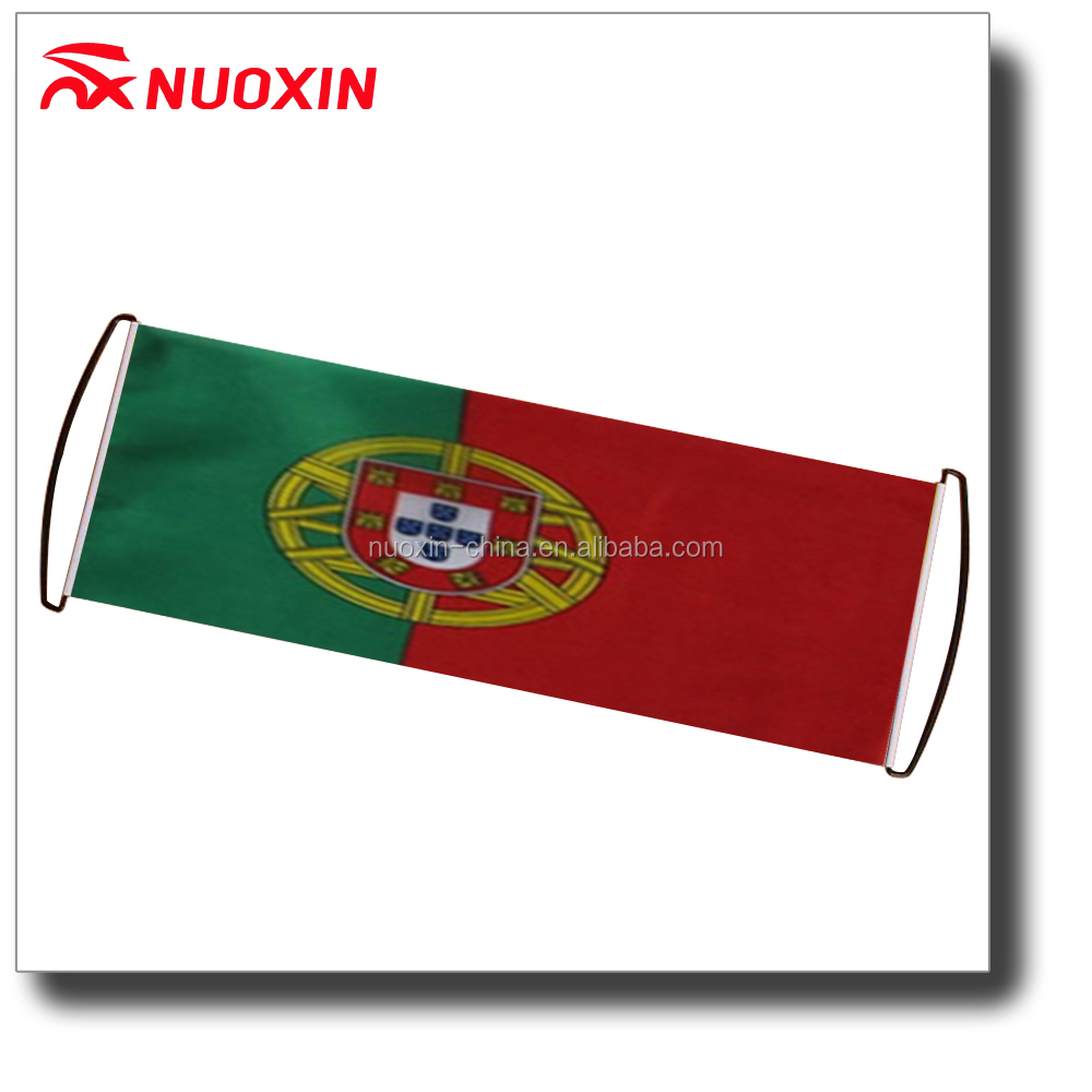 NX FLAGS Custom Advertising hand rolling country flag fan scrolling banner