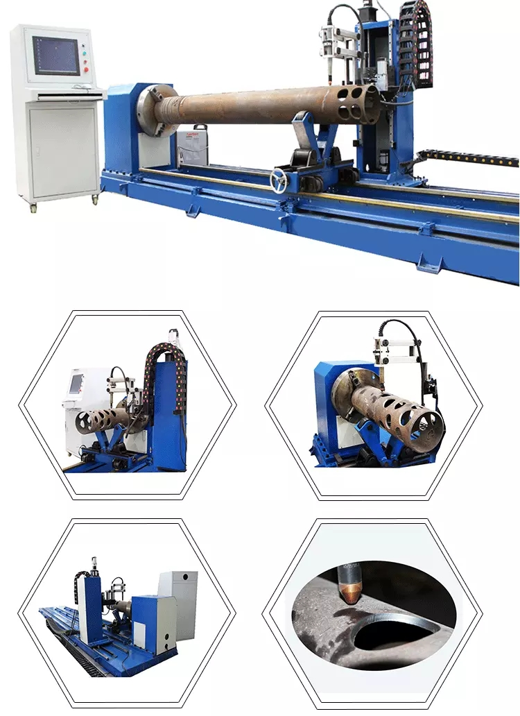 IPC Control 5 Axis CNC Cutting and Beveling Machine with Plasma and Flame torch