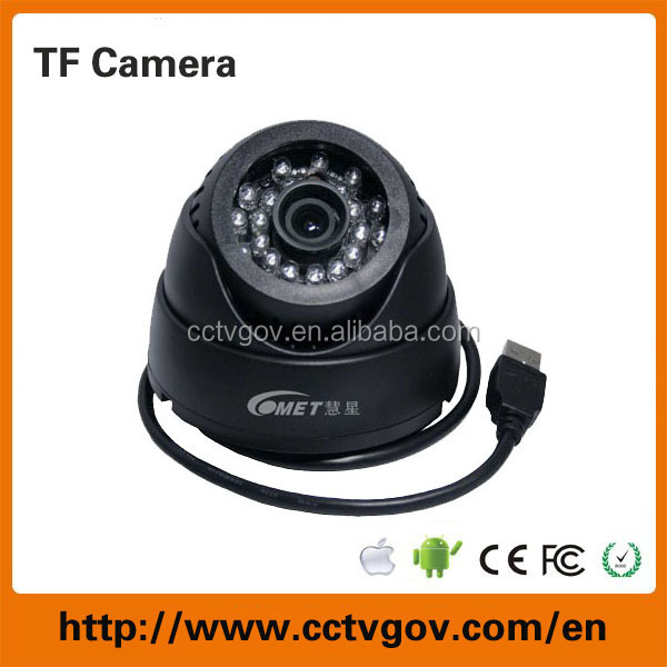 2015 New Product Built in with DVR Memory Card Dome Camera TF Card Infrared Indoor Camera