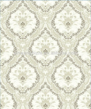 Elegant Design Velvet Wallpaper Luxury Non Woven Flocking