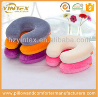 Professional supplier inflatable u shape neck support wholesale travel pillow