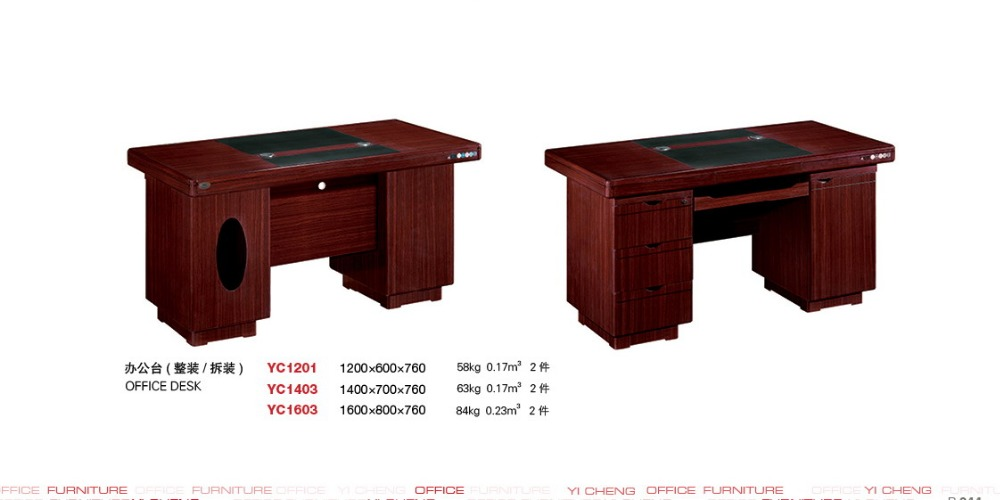 high quality computer desk with bookshelf factory sell directly YC43