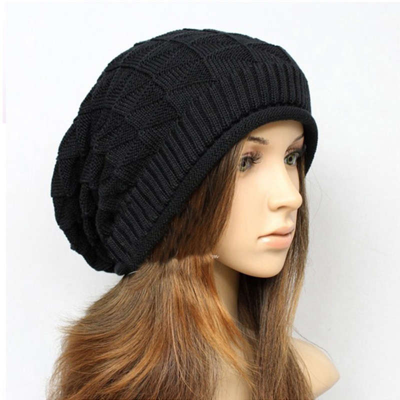 2015 New Korean Wool Caps Winter Fashion Hats Solid Color ...