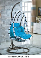 garden furniture PE rattan egg chair with stand outdoor
