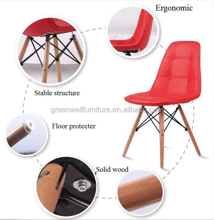 Plastic goedkope houten been lederen bureaustoel buy product on - Houten plastic stoel ...