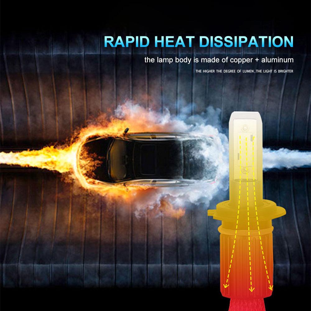 360 Derajat Disesuaikan Cooper Sabuk Motor Mobil LED Lampu