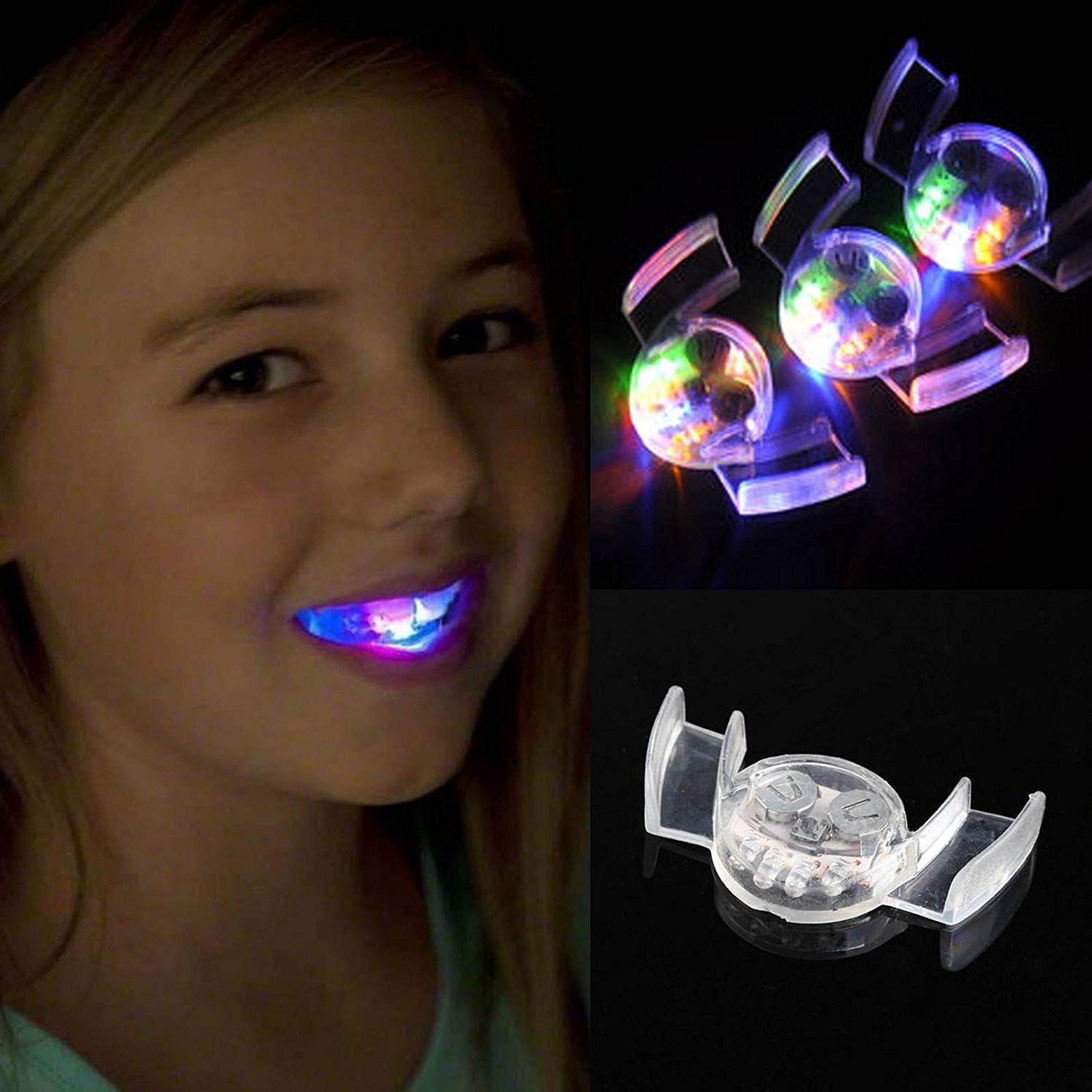 Flashing LED Mouthpiece Teeth Light Up Mouth Piece Halloween Guard Rave Party Favors Mouthpieces Gift (1)