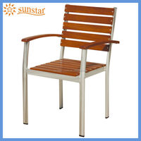 Outoor Garden Furniture Aluminium Wood Slat Chair with Modern Style Design L82205