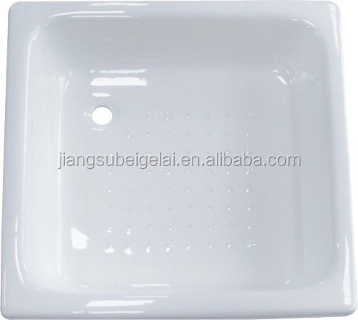 cheap price square cast iron shower pan