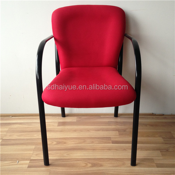 High Quality School Furniture Chair Red Fabric Library Reading
