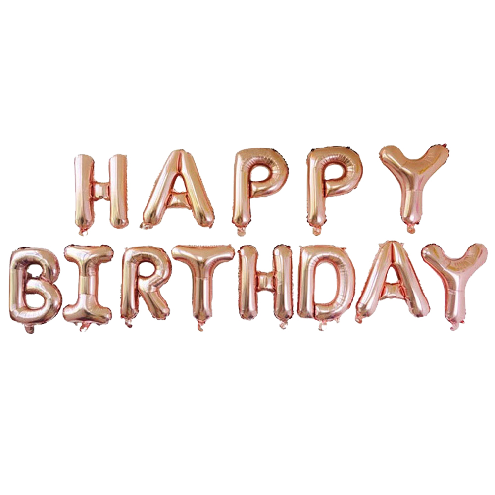 Letter Foil Balloons Party Decoration Rose Gold Hulium Happy Birthday Balloon