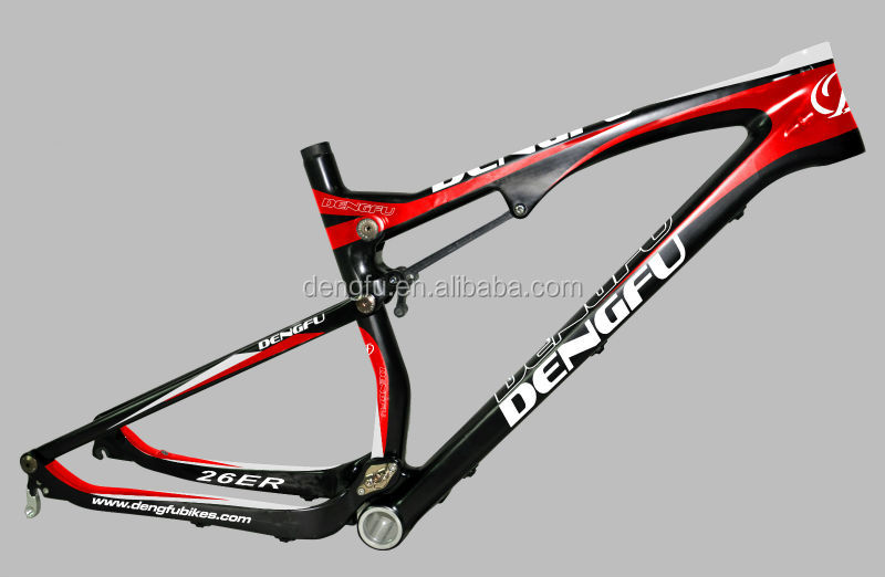 China cheap full suspension excellent design mtb carbon frame 26 with 2 year warranty