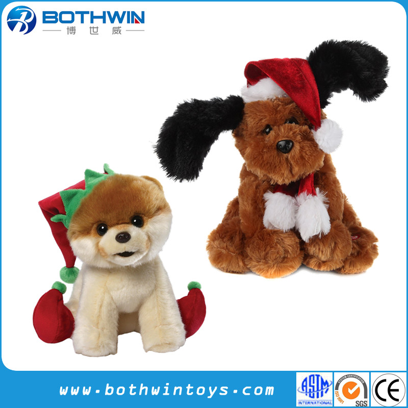 Wholesale Cheap Custom Christmas Anime Baby Dog Plush Toy For Crane Machines