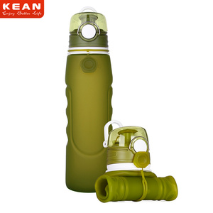 2019 China Manufacturer 1L Eco-friendly Collapsible Silicone Water Bottles