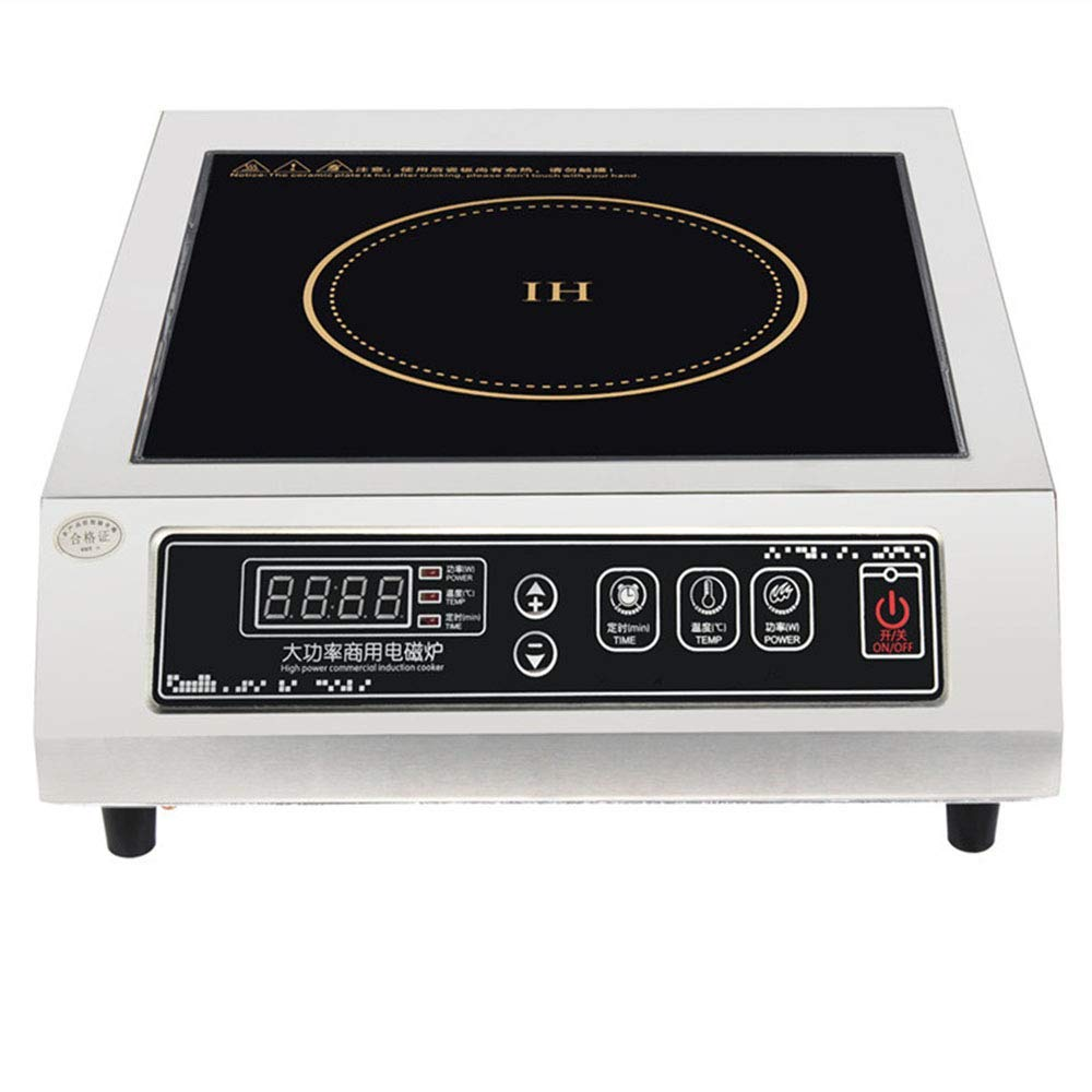 Induction Cooktop, Timing Temperature Control, Electric Burner, 3500W Hot Plate Stainless Steel, JUDL