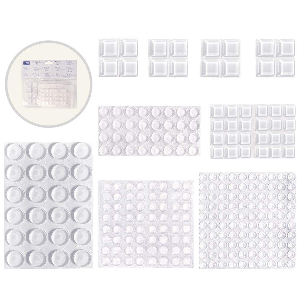 260 Pack Clear Rubber Bumpers - DEVAISE Self Adhesive Rubber Pads - Door Anti-Noise Bumpers
