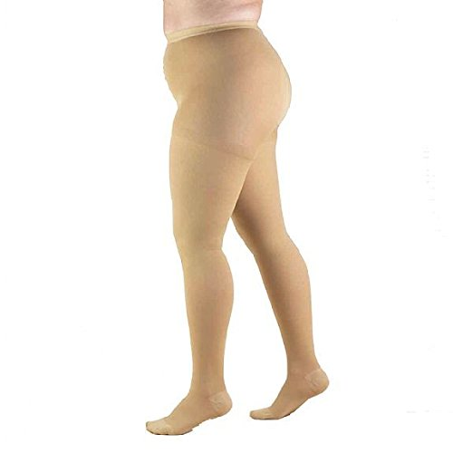 1af03c1916 Get Quotations · Full Figure, Plus Size Compression Pantyhose, Opaque Support  Hose, Firm Support 20-