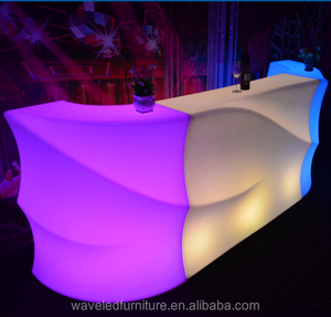 Pub bar furniture mobile Illuminated led glow plastic lighted bar counter for sale