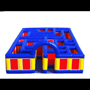 Inflatable new maze house design/giant size maze obstacle for children games